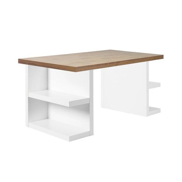 Hnedý pracovný stôl TemaHome Multi, dĺžka 160 cm