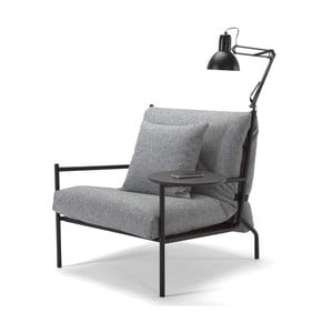 Sivé kreslo Innovation Noir Chair