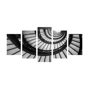 Viacdielny obraz Black&White Stairs
