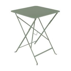 Sivozelený záhradný stolík Fermob Bistro, 57×57 cm