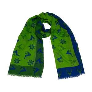 Zelená šatka Goldgeweih Mona