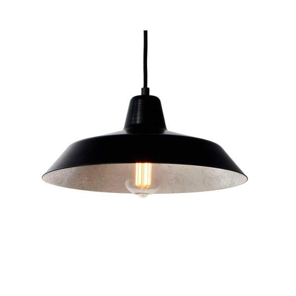 Stropná lampa Cinco, čierna/strieborná