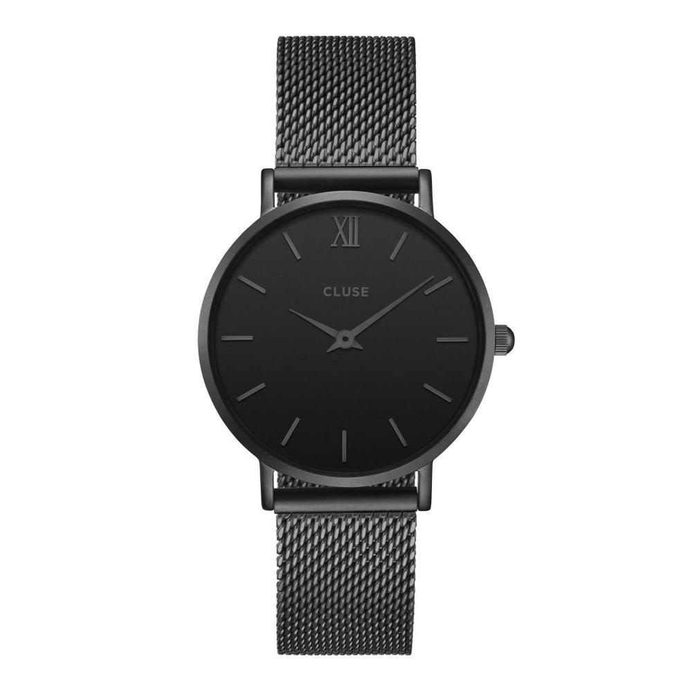 Dámske čierne antikoro hodinky Cluse Minuit