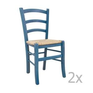 Sada 2 stoličiek Castagnetti Lavagna, modrá