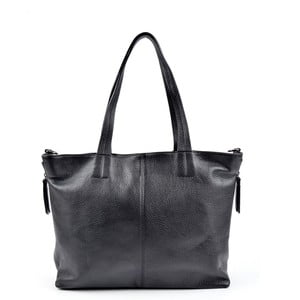 Čierna kožená kabelka Roberta M Awero Nero