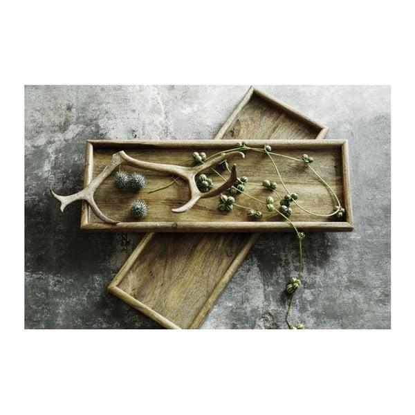 Ručne tvorený drevený podnos NORR11 Vintage, 50x20 cm
