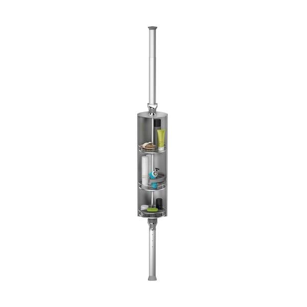 Nastaviteľná otočná tyč s poličkami do sprchy Spin Cabinet