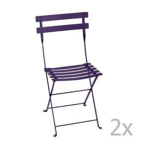 Sada 2 fialových skladacích stoličiek Fermob Bistro