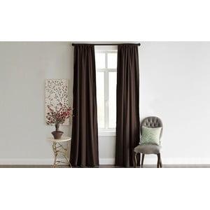 Tmavohnedý záves Home De Bleu Blackout Curtain, 140x240cm