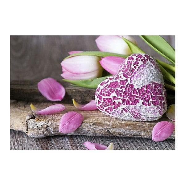 Vinylový koberec Purple Love, 52x75 cm
