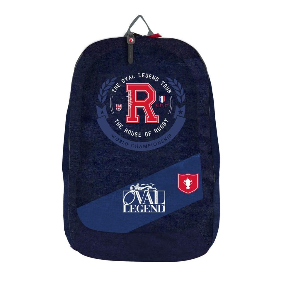 Modrý školský batoh Bagtrotter Oval Legend