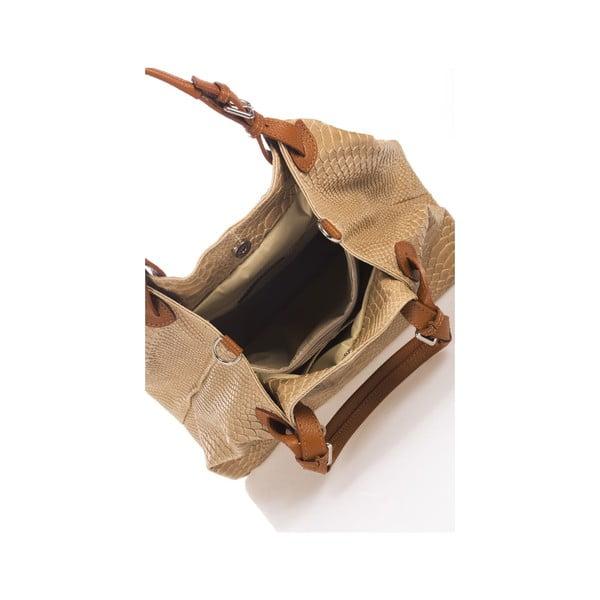 Kožená kabelka Italia 841, krémová