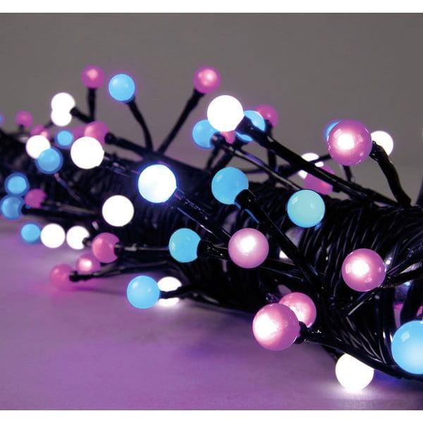Svietiaca dekorácia Beads Pink/White/Blue