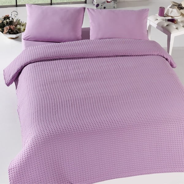 Prikrývka na posteľ Burumcuk Lilac, 160x240 cm
