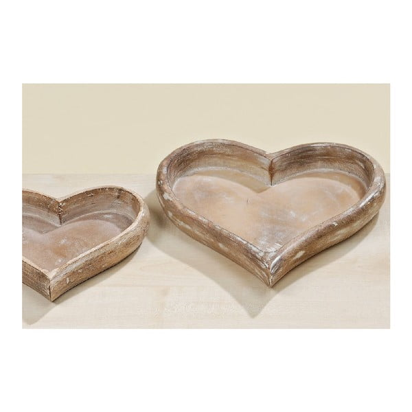 Set 2 podnosov Hearts