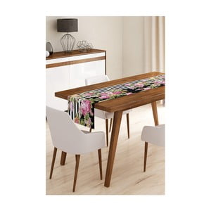 Behúň na stôl z mikrovlákna Minimalist Cushion Covers Elegant Flowers, 45×145 cm