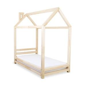 Detská posteľ z prírodného smrekového dreva Benlemi Happy, 90 × 160 cm