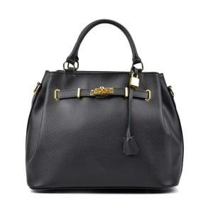 Čierna kožená kabelka Isabella Rhea Mahno