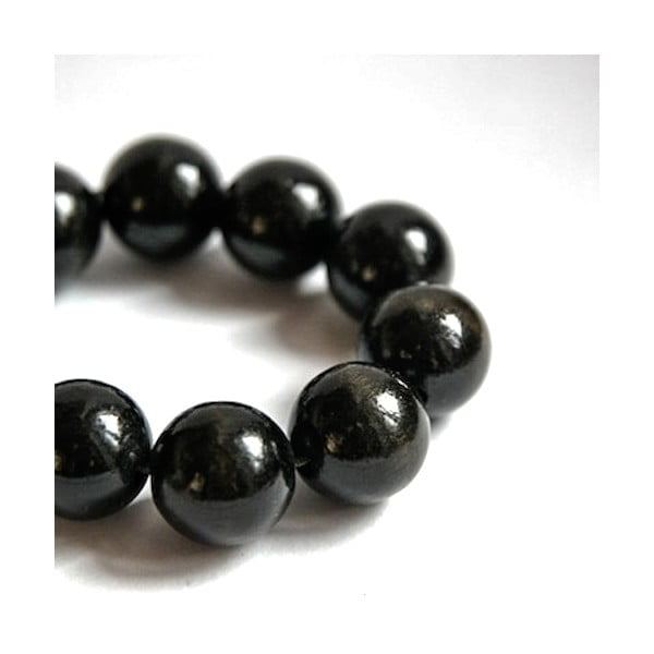 Čierny drevený náramok ko–ra–leBubbles