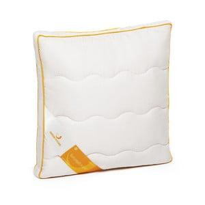 Biely vankúš s vlnou merino Lana Green Future, 37 x 37 cm