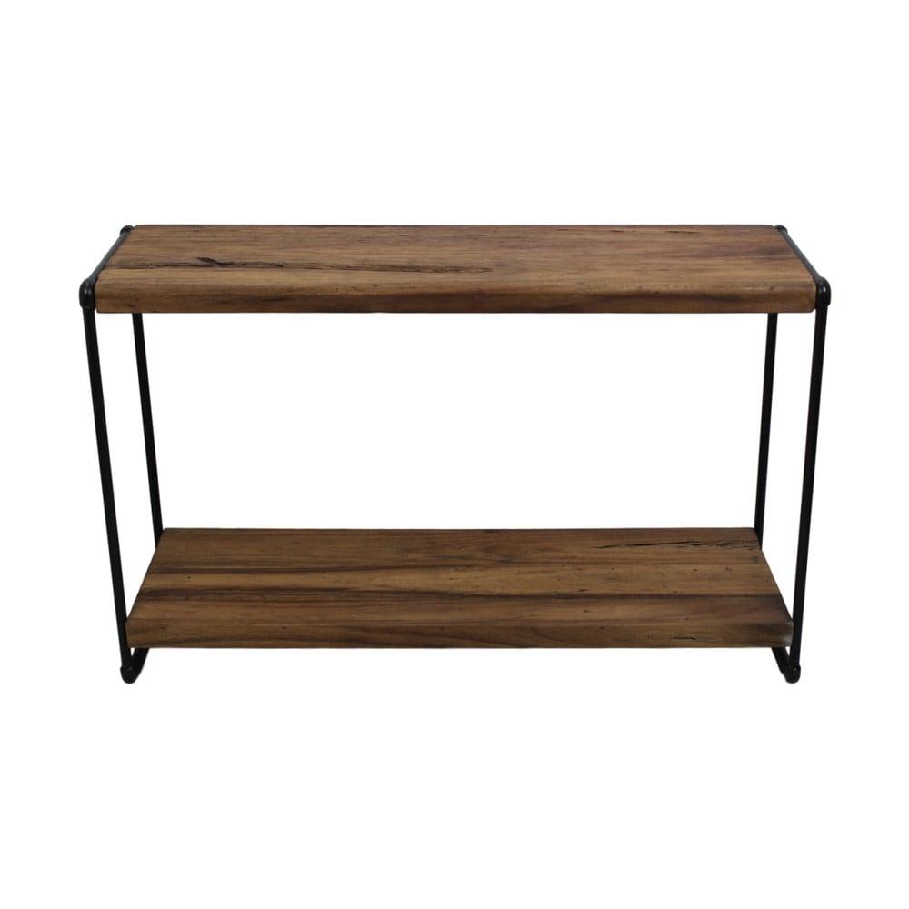 Konzolový stolík z teakového dreva a kovu HSM collection Lilienne
