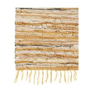 Kožený koberec Nordal 110x170 cm, hnedý