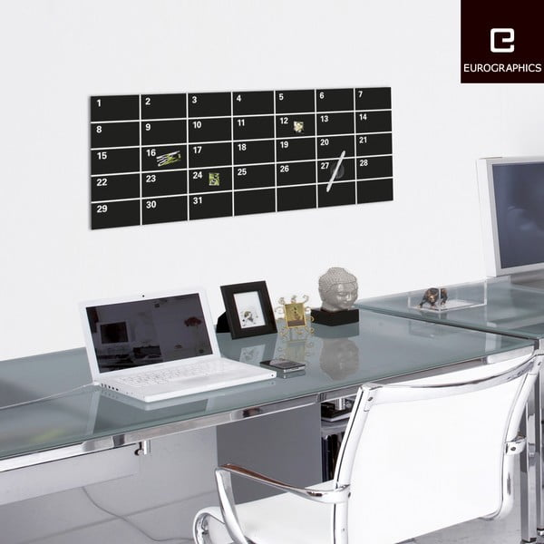 Magnetická tabuľa Month Black, 30 x 80 cm