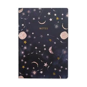 Čierny zápisník GO Stationery Constellations