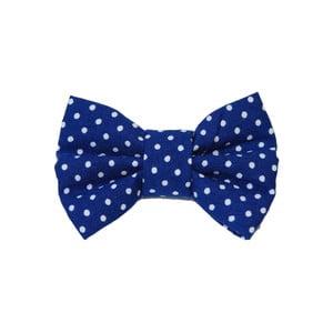Modrý charitatívny psí motýlik s malými bodkami Funky Dog Bow Ties, veľ. S