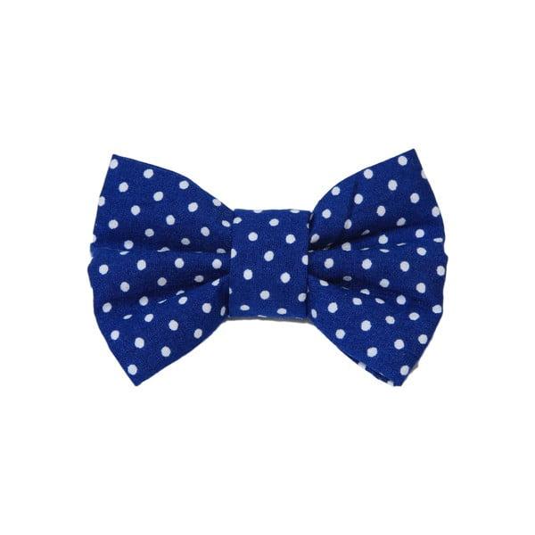 Modrý charitatívny psí motýlik s malými bodkami Funky Dog Bow Ties, veľ. L
