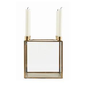 Svietnik Square Brass, 20x22 cm