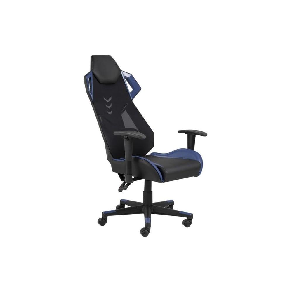 Čierno-modré kancelárske kreslo na kolieskach Actona Kevin