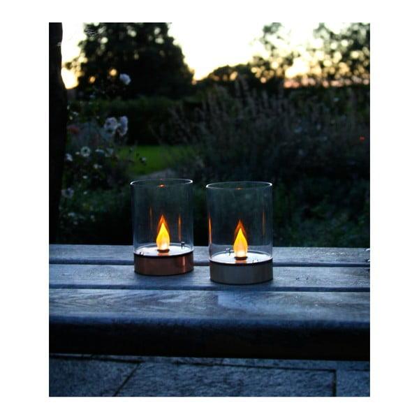 Záhradné svetlo Solar Energy Garden Light Candle Rose