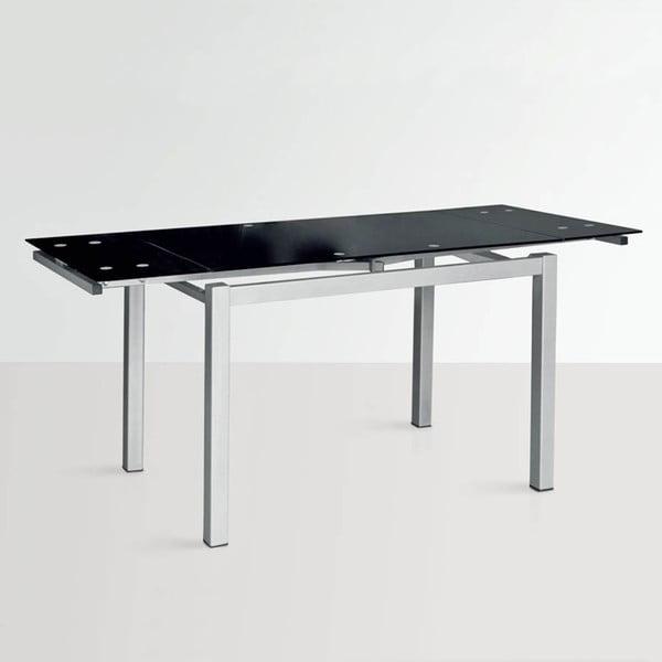 Rozkladací jedálenský stôl Queen, 110-170 cm, čierny