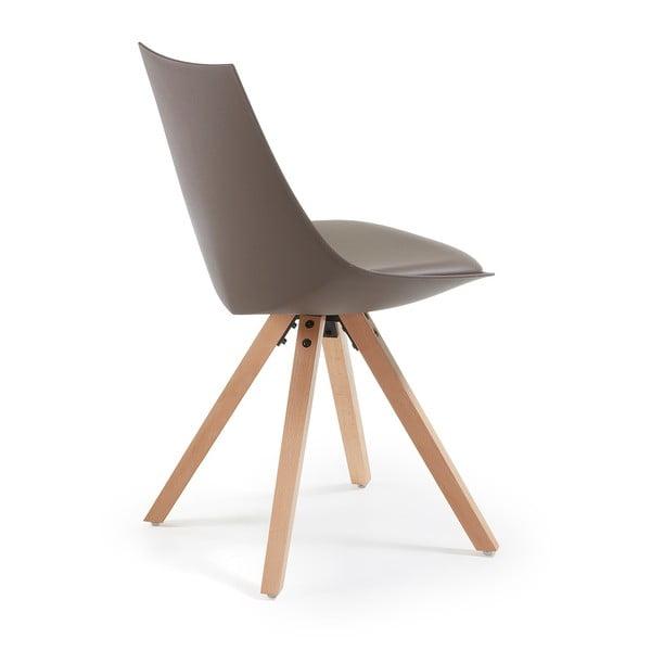 Sada 4 hnedých stoličiek La Forma Armony