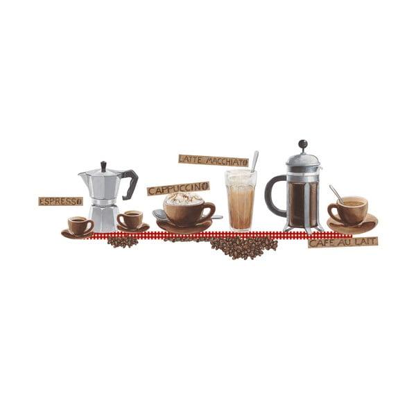 Dekoratívna samolepka Káva