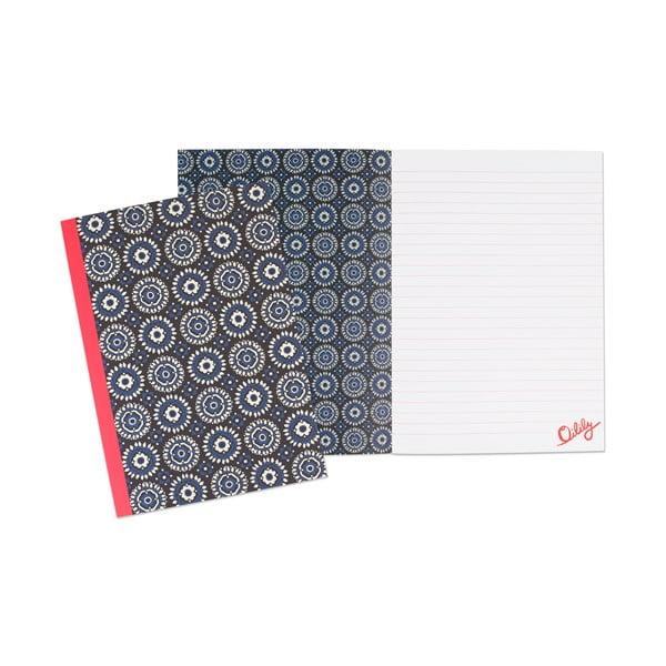 Sada 3 linajkovaných zápisníkov Portico Designs Oilily, 80 stránok