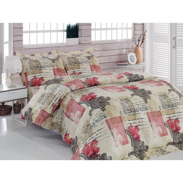 Sada prešívanej prikrývky na posteľ a dvoch obliečok na vankúš Seasons 232, 220x230 cm;