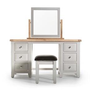 Toaletný stolík a stolička z akáciového dreva VIDA Living Clemence