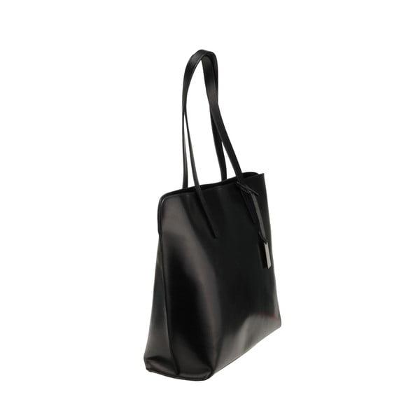 Kožená kabelka Vega, čierna