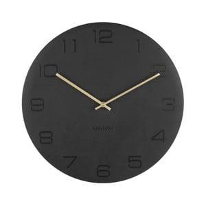 Čierne nástenné hodiny Karlsson Vigorous, Ø40cm