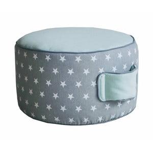 Detský bavlnený puf v mintovej farbe VIGVAM Design Stars, ⌀ 35 cm