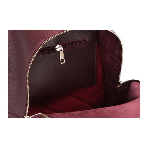 Tmavočervený batoh z eko kože Beverly Hills Polo Club Fran