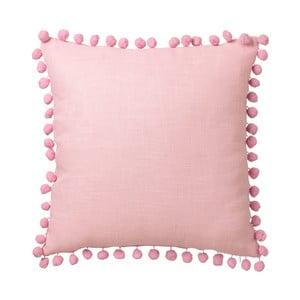 Ružový vankúš Unimasa Pompon, 45 x 45 cm