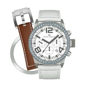 Dámske hodinky Marc Coblen s remienkom a krúžkom na ciferník naviac P103
