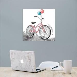 Nástenný samolepiaci obraz North Carolina Scandinavian Home Decors Bike, 30×30 cm