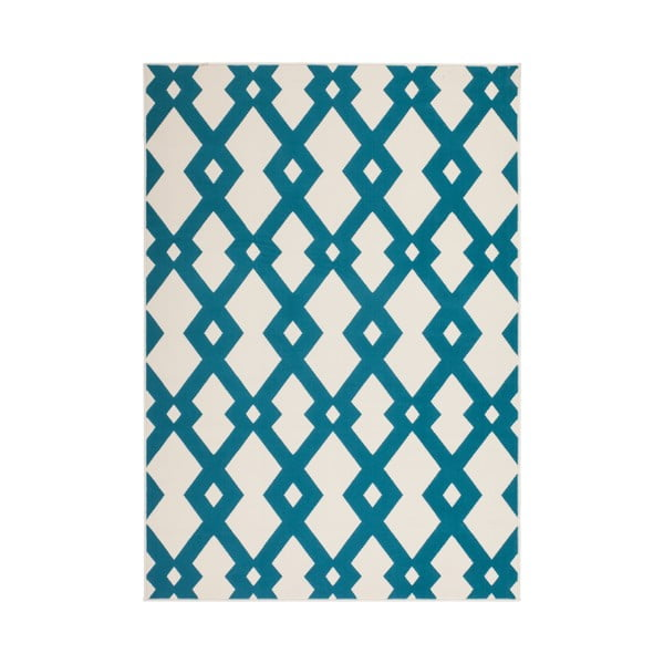Modro-biely koberec Kayoom Stella 100 Blue, 80x150cm