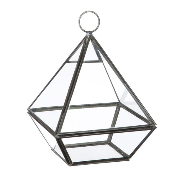 Sklenená vitrínka / kvetináč Stand Glass Grey, 22 cm