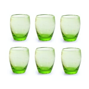 Sada 6 pohárov Villa d'Este Acapulco Verde Mela