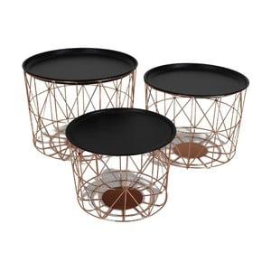 Set 3 stolíkov Iron Copper